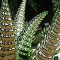 Botanikos sode Floridos valstijoje (JAV) demonstruojami stikliniai koralai