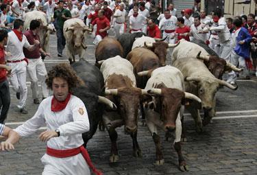 Bėgimas su buliais Pamplonoje, San Fermino fiesta