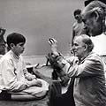Ingmaras Bergmanas ir operartorius Svenas Nykvistas filmuojant filmą