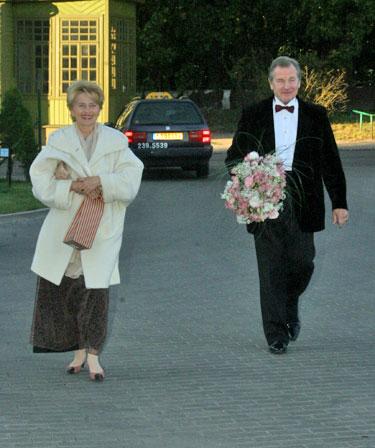Eduardas Kaniava su žmona Barbora