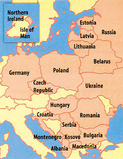 Žemėlapyje trūksta Kaliningrado srities