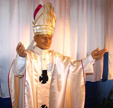 Vaškinė Jono Pauliaus II figūra