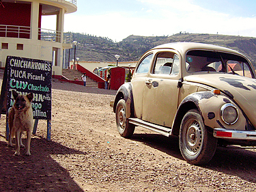 Peru, Ayacucho, prie baro