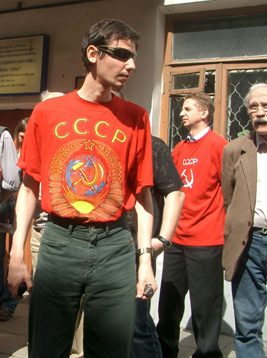 Protestas prie Lietuvos ambasados Maskvoje