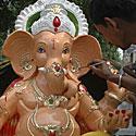 Hinduistų dievybės Ganešos figūra