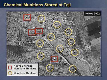 Irako cheminio ginklo saugyklos