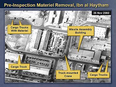 Iš raketų gamyklos Irake išvežami kroviniai