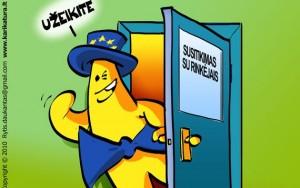 Europiukas, kaip ir europarlamentarai, kartą per savaitę priima rinkėjus.