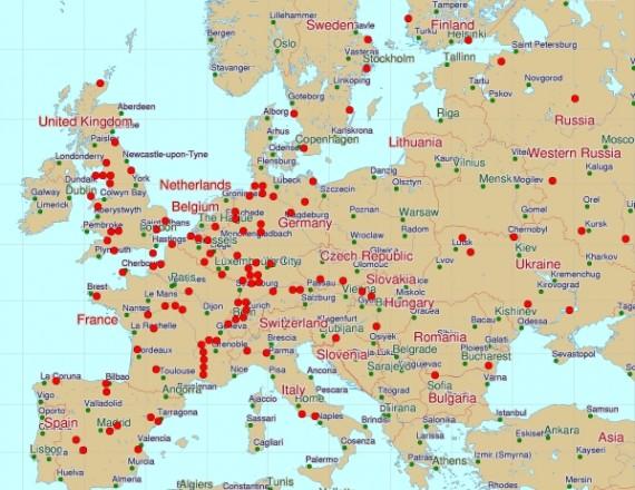 Atominių elektrinių tinklas Europoje