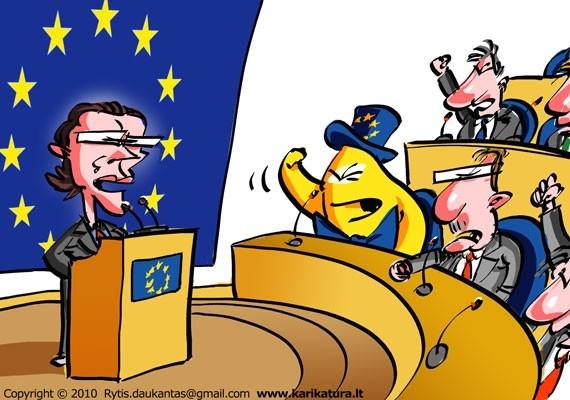 Europiukas EP klauso komisarų. R. Daukanto pieš.