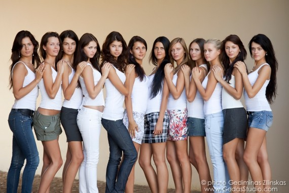 """Mis Lietuva 2010"" dalyvės be makiažo"