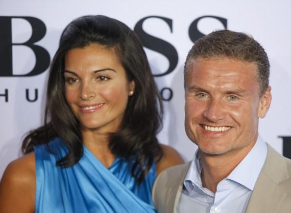 Davidas Coulthardas su sužadėtine Karen Minier