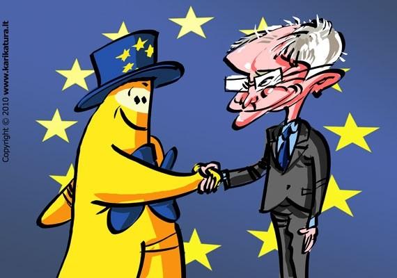 Europiukas susipažįsta su Hermanu van Rompuy - Europos Vadovų Tarybos nuolatiniu vadovu, dar vadinamu neformaliu ES prezidentu.