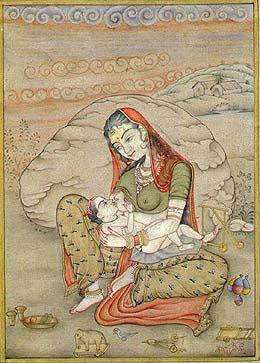 Motinystės idealų išraiška Indijos mene