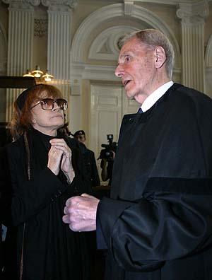 Nadine Trintignant ir Kazimieras Motieka