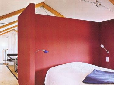 Pertvara, skirianti miegamąjį ir darbo vietą