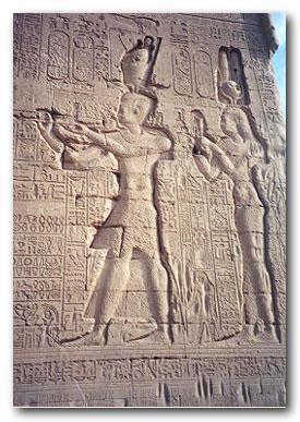 Kleopatra su sūnumi Cezarionu
