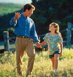 Tėvas su dukra