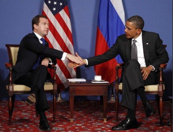 Dmitrijus Medvedevas ir Barackas Obama