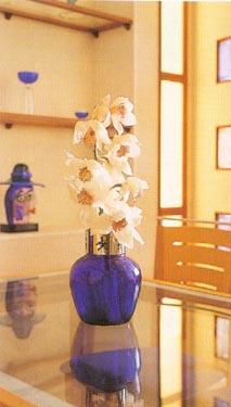 Svetainės fragmentas. Gėlės