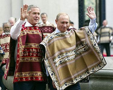 George' as W. Bushas ir Vladimiras  Putinas