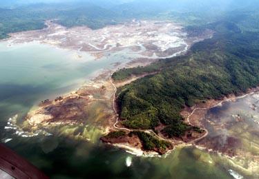 Cunamis pakeitė Pietryčių Azijos šalių kraštovaizdį