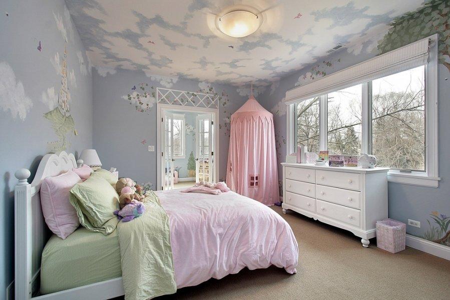 Vaik kambario interjero id jos - Stencil parete camera da letto ...