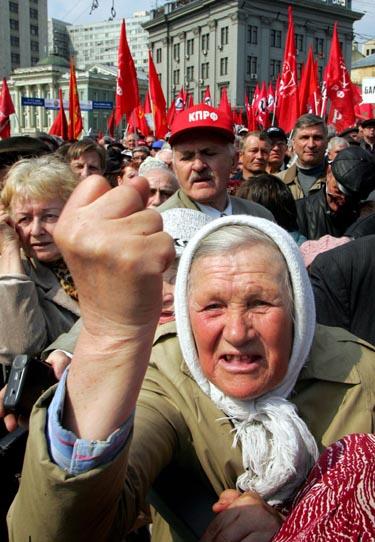 Rusija, Maskva, darbo žmonių šventės minėjimas