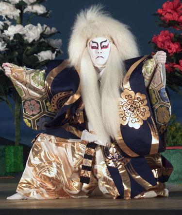 Japonų Kabuki teatro aktorius