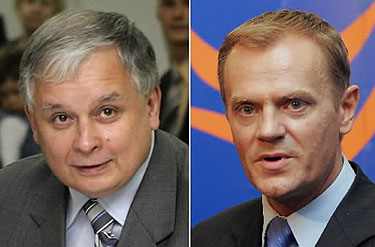 D.Tuskas ir L.Kaczynskis