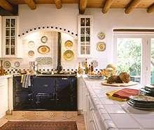 Virtuvė: pietvakarių stilius