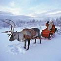 Kalėdų senelio rogės Laplandijoje