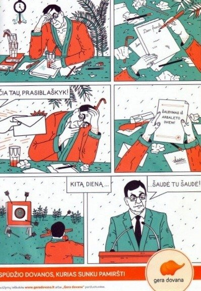 A. Butkevičius tapo reklaminio komikso herojumi