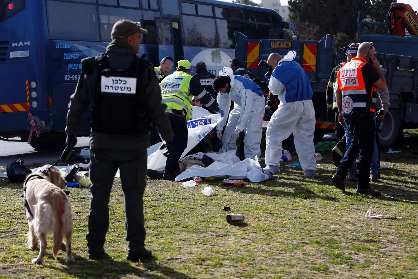 Дочетырех человек возросло число жертв при теракте вИерусалиме