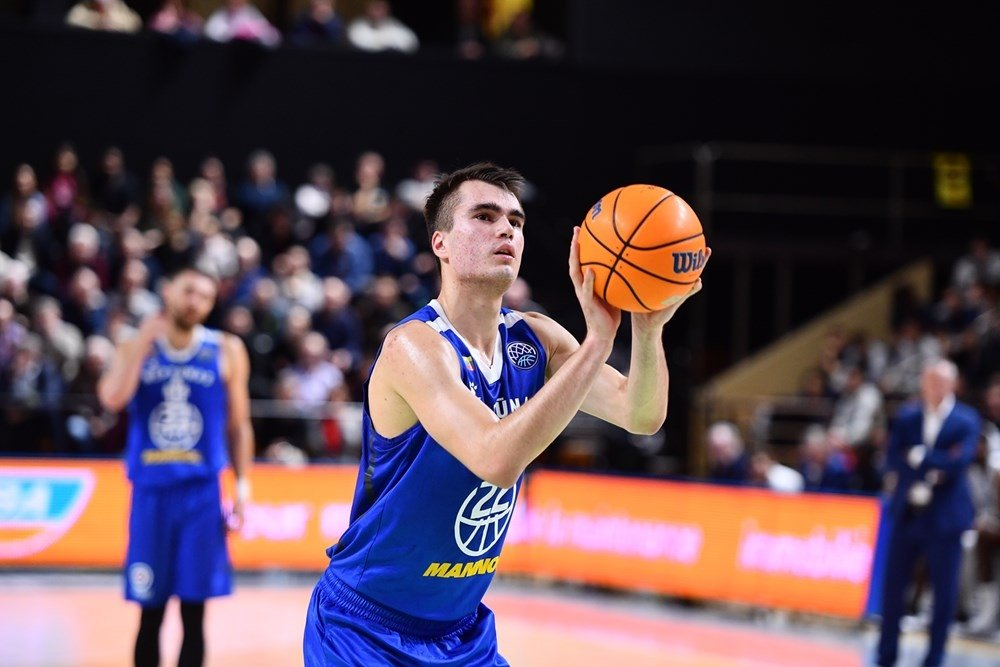 Neptunas' 6-9 forward, Gytis Masiulis also could be a potential second round pick in the 2020 NBA Draft. (Photo: FIBA, via Delfi.lt)