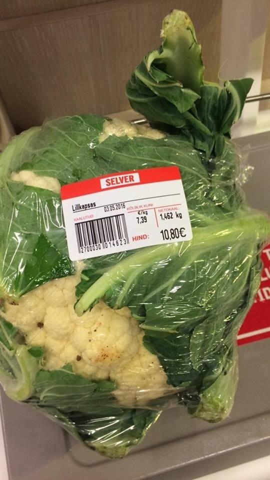 Kalafioro kaina Estijoje privers išsižioti