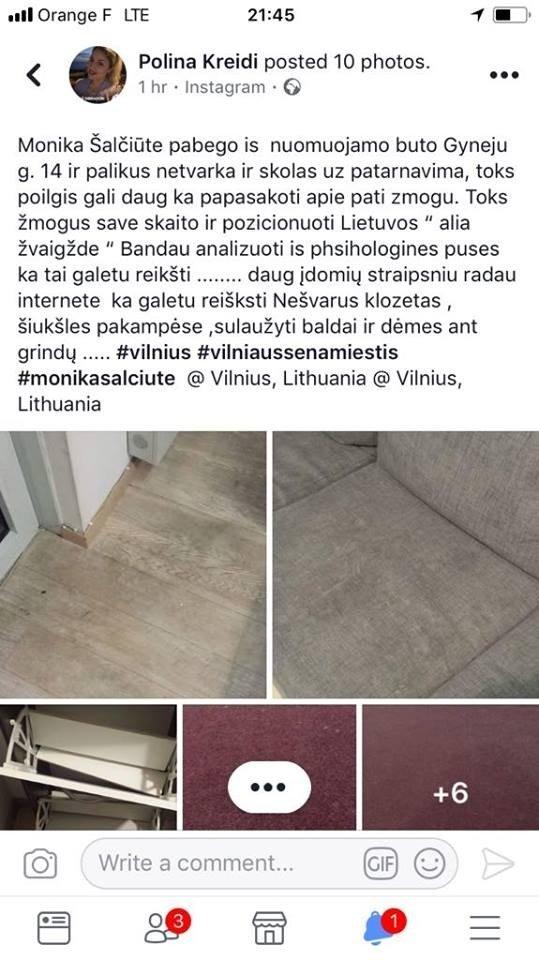 Kaltinimai Monikai Šalčiūtei