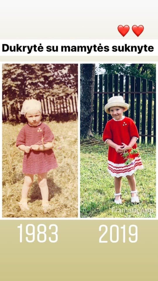 Katažina Zvonkuvienė vaikystėje ir jos dukra