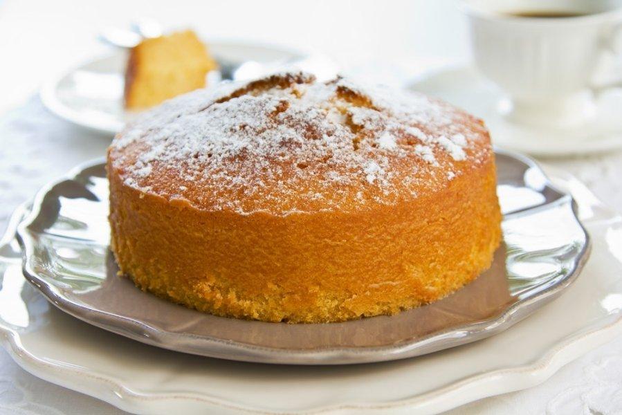Peach Almond Yogurt Cake
