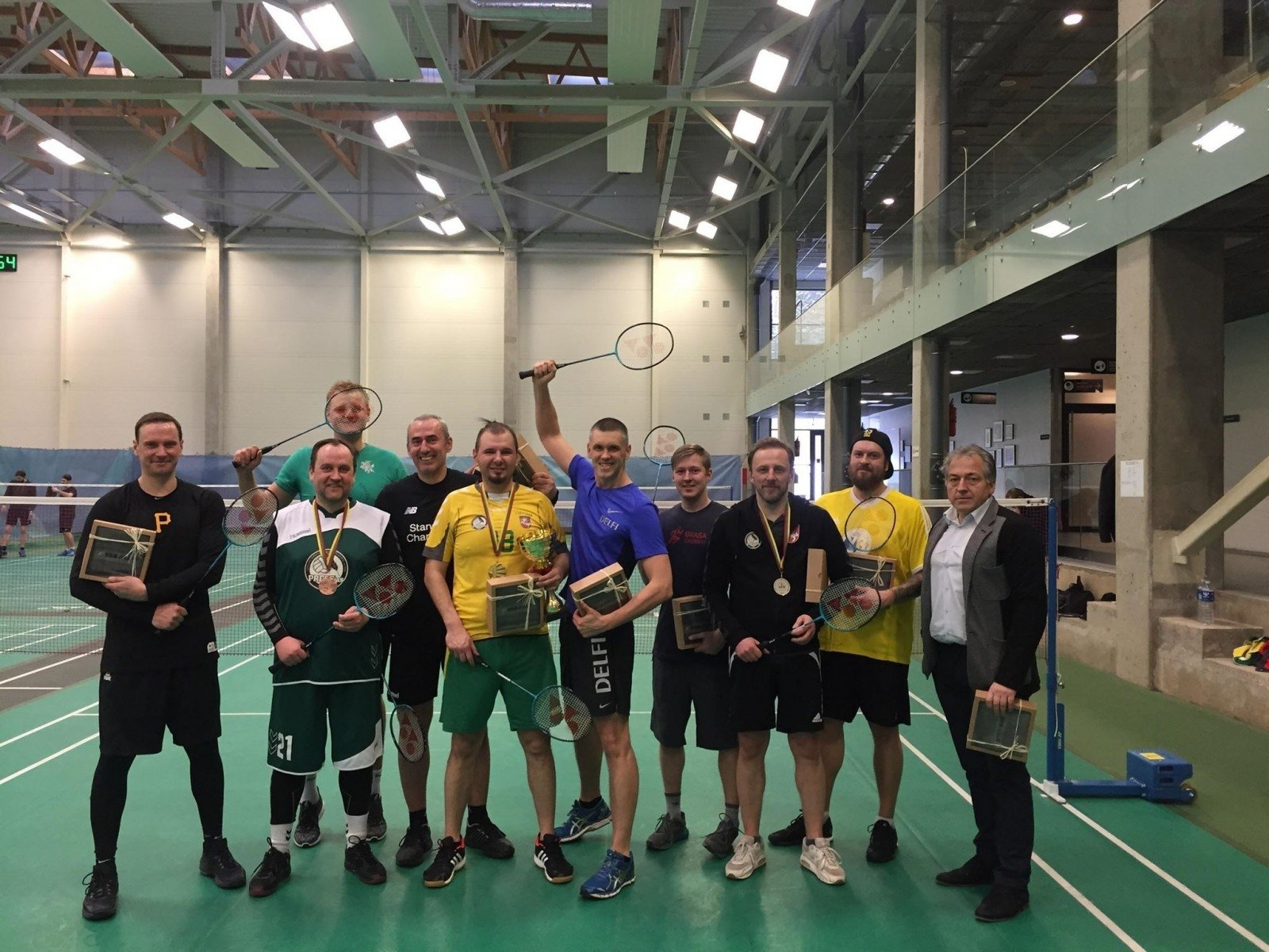 The sports journalist badminton tournament is the same winner for