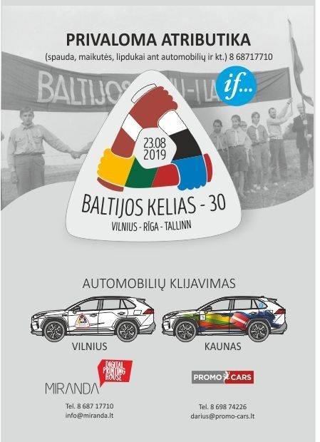 """Lipdukų, skirtų renginiui """"Baltijos kelias 30"""", maketai ir kainos"""