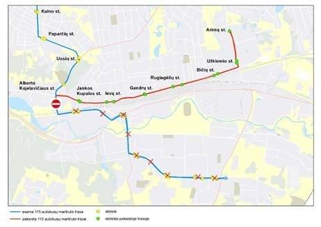 Vilniuje – laikini kai kurių autobusų maršrutų pakeitimai
