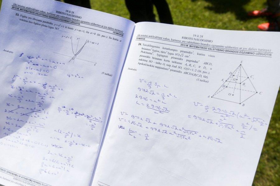 btc 1 semestro matematikos egzamino popierius