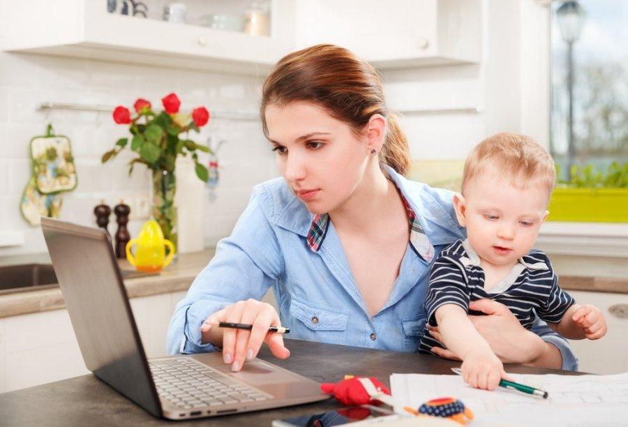 mama dirbti iš namų