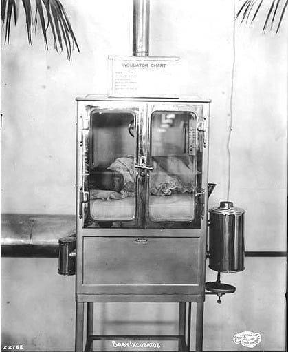 Neišnešioti kūdikiai inkubatoriuose