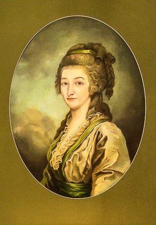 Moteris iš baronų von der Roppų giminės. Dailininkas nežinomas.