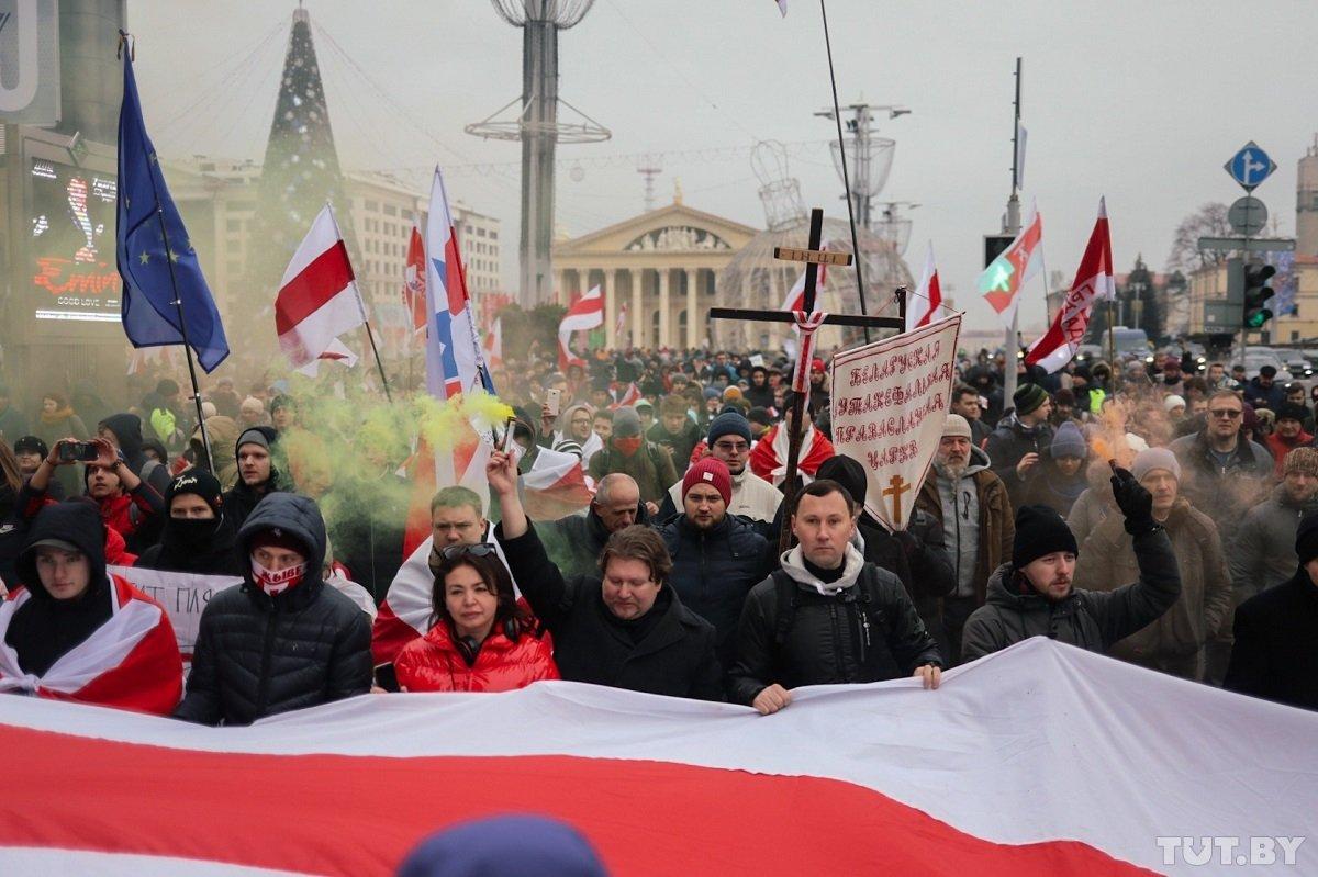 Белорусская оппозиция проводит акцию против интеграции с Россией