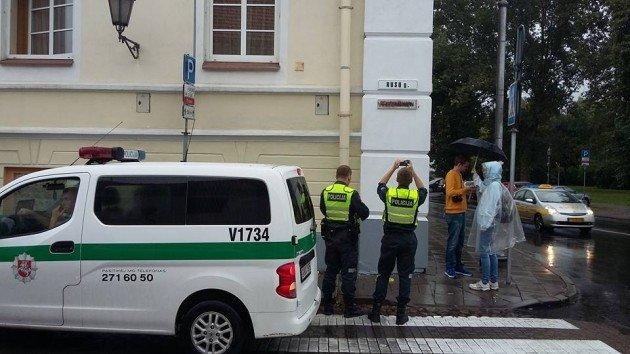 МИД Литвы осудил факт осквернения русскоязычной таблички сназванием улицы вВильнюсе