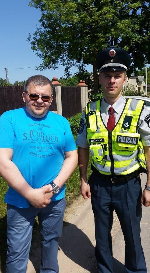 Latviai apie Lietuvos policininką papasakojo feisbuke