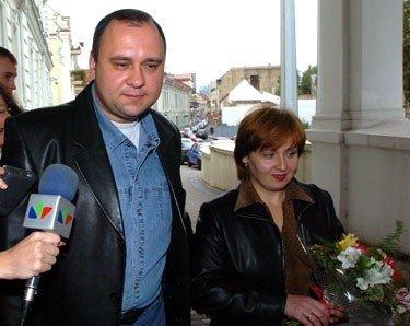 Valerijus Trojanovas su žmona Olga